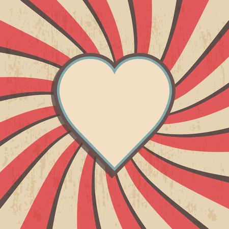 retro heart with old background, valentine Illustration
