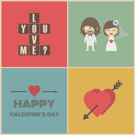 soul mate: valentines day symbol, couple, heart, card