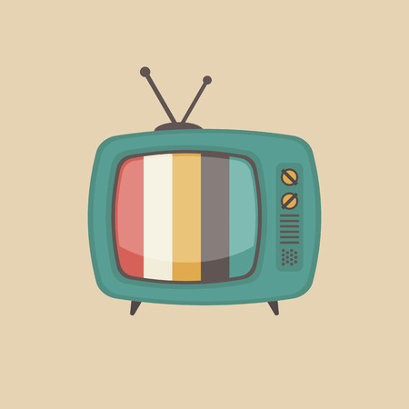 old style retro: retro television, old style gadget