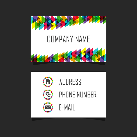 blank business card: blank abstract business card, vector illustration Illustration