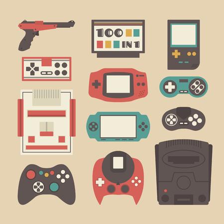 zestaw retro odtwarzacz gry i akcesoria