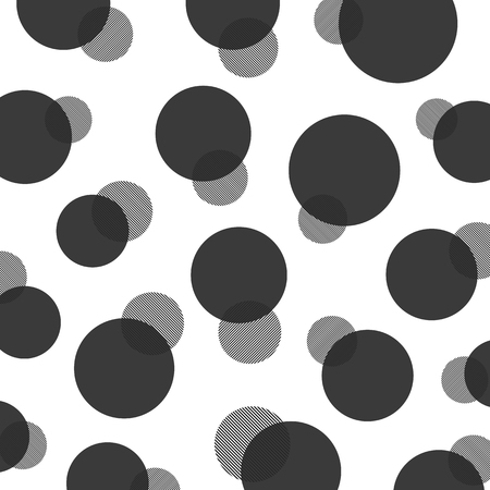 black and white: black and white abstract polka dot pattern