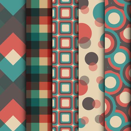 ensemble de rétro motif, style vintage Vecteurs