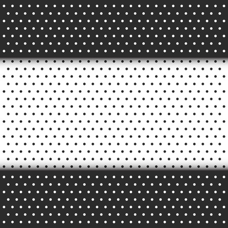 polka dot pattern: black and white polka dot pattern Illustration