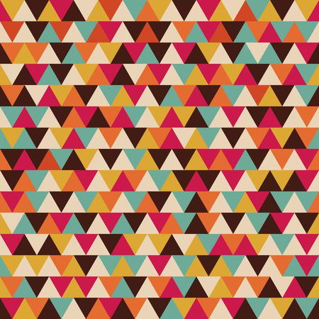 retro color: seamless triangle pattern, color stripe, retro style