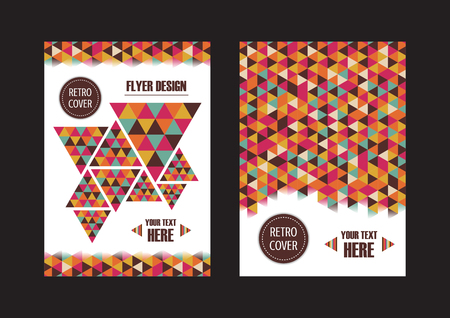 retro color: abstract color stripe cover, retro flyer