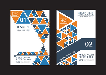 abstract triangle cover, modern flyer