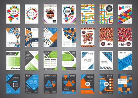 Set von Retro und moderne Cover-Design, Broschüre Vorlage