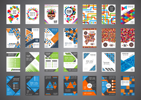 set of retro and modern cover design, brochure template