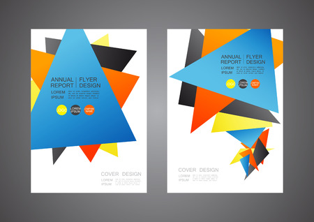 business report: modern flyer design, cover template