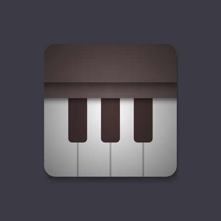 classic classical: piano application icon, vintage and retro style