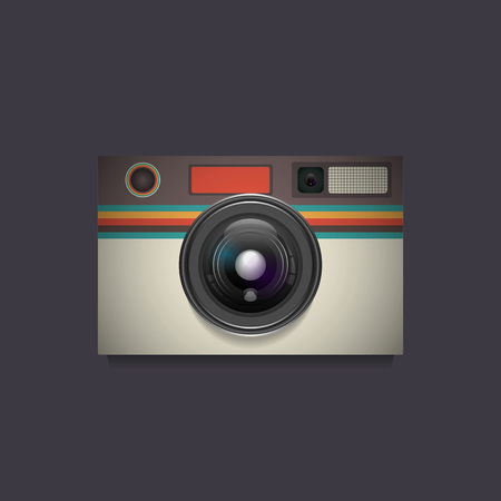 old style retro: glossy retro camera, old style Illustration