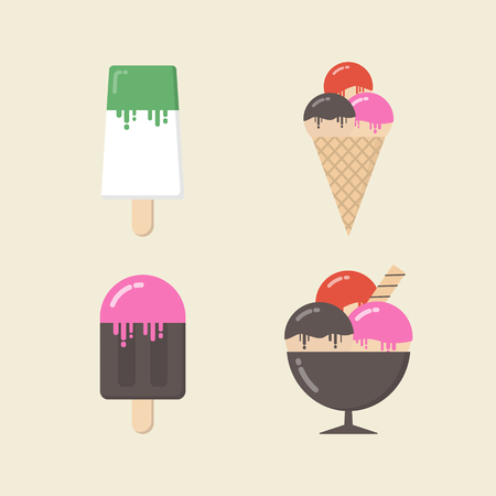 freeze: retro ice cream icon, vintage and pastel style