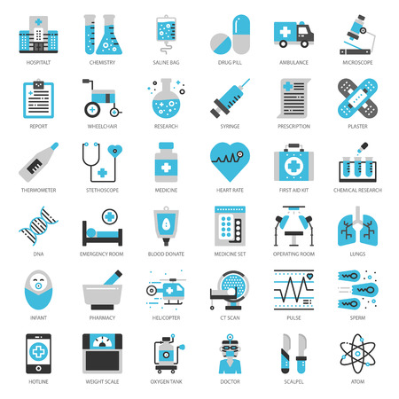 Healthcare and medical icons set