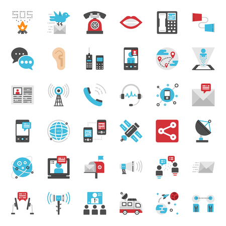 Communication evolution pixel perfect flat icon, isolated on white background Иллюстрация