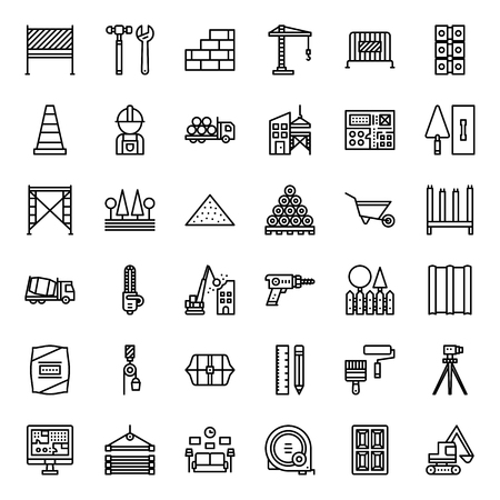 construction icon, isolated on white background Illustration