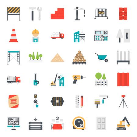 construction icon, isolated on white background Ilustracja