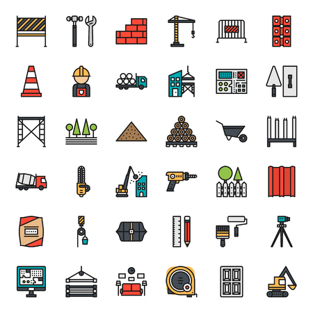 construction icon, isolated on white background Иллюстрация