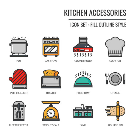 kitchen accessories icon, isolated on white background