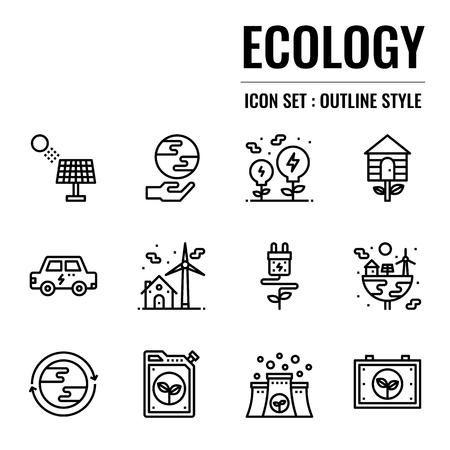 ecology icon, isolated on white background