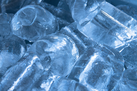 close up of ice cube stack