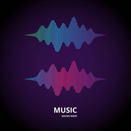 Colorful music wave form, audio visualizer