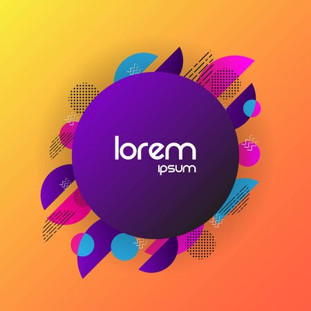 Abstract circle  background with colorful shape