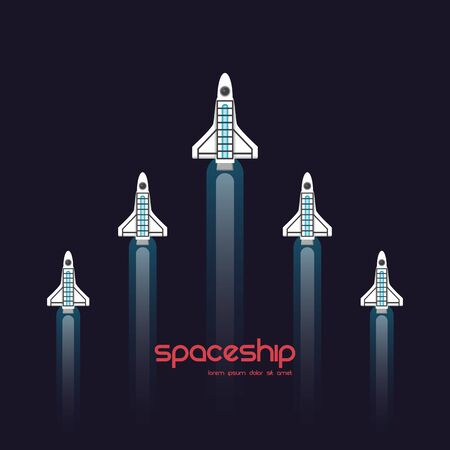 startup business concept, rocket fly to  sky