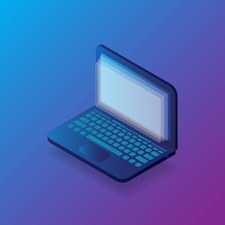 Isometric notebook with colorful background