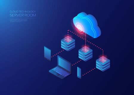 Isometric cloud service, online data transfer to gadget device