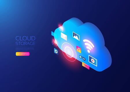 Isometric cloud service, online data storage