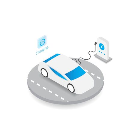 Isometric electric car, future technology