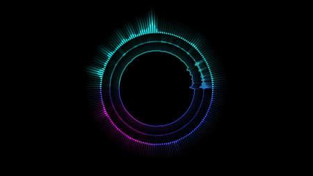 Hologram Music equalizer, music party Banco de Imagens