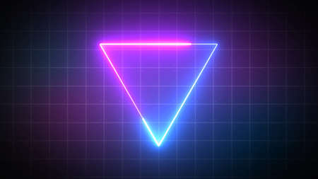 triangle with laser beam, illuminati style, retro background