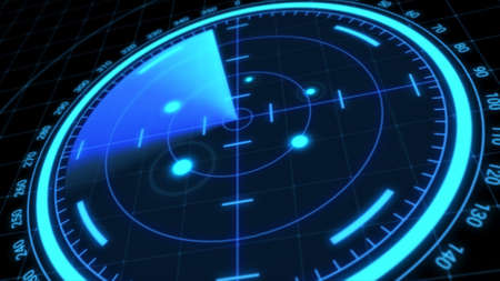 Futuristic radar screen, searching target Banque d'images