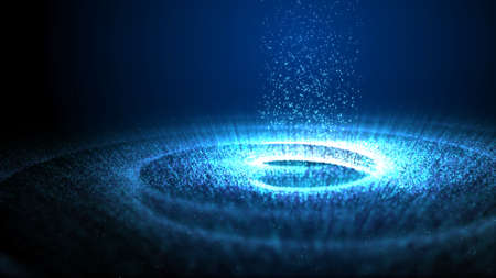 Rotation particle background, spiral galaxy, animation of Milky Way