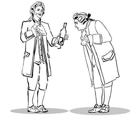 drunk man:     A man in an old suit, with a bottle