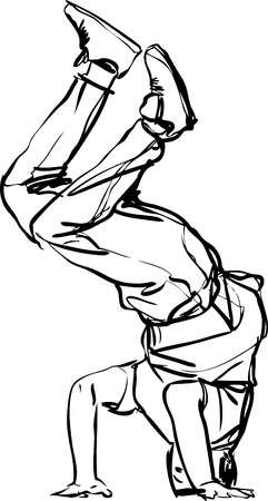 persona: Bboy guy dancing breakdance  black and white