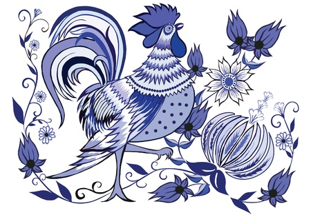 decorative floral pattern is a postcard with flowers and birds