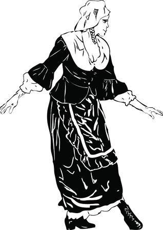 imagen en blanco y negro de la actriz se inclinó en reverencia