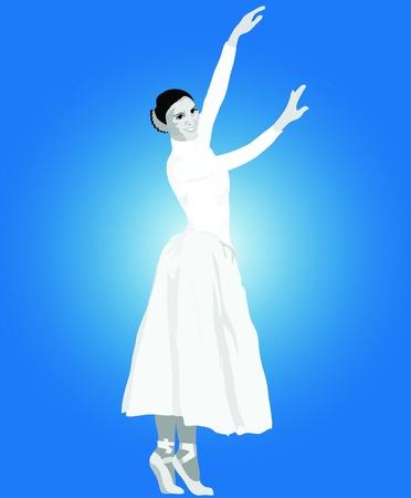 imagen de la actriz de la bailarina en vestido blanco