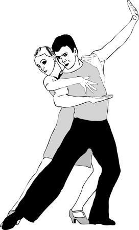 imagen de blanco y negro un par de tango