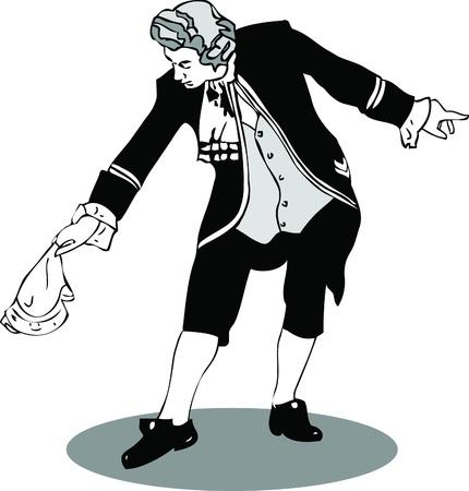 theater man: retro bow with a handkerchief