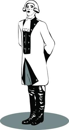 peluca: oficial de imagen blanco y negro con una peluca