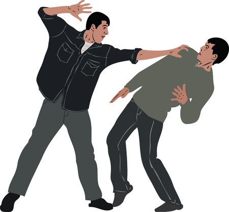 peleando:  un mat�n de imagen duele a un chico humilde