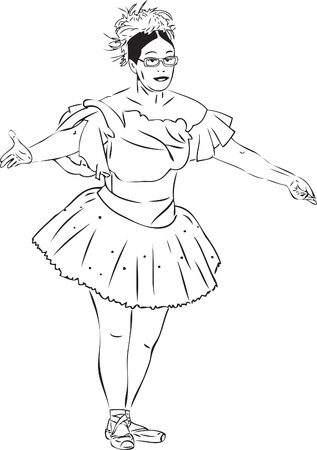 principales formas de bailarina de imagen blanco y negro