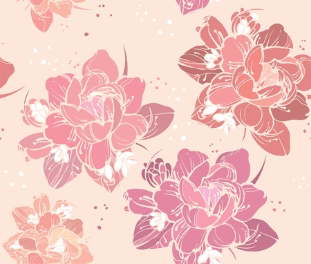 a beautiful color picture seamless floral background Illustration