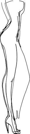una imagen en blanco y negro Maniquí de mujer