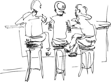 sgabelli: tre Vettoriali