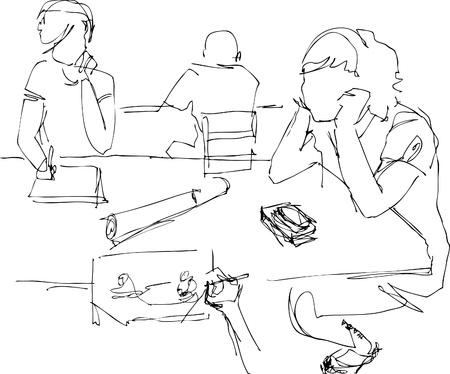hair do: students Illustration
